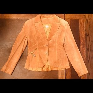 Vintage Suede Leather Cache Blazer